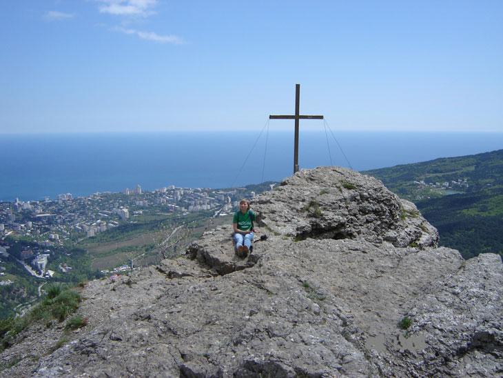 На скале Ставри-Кая