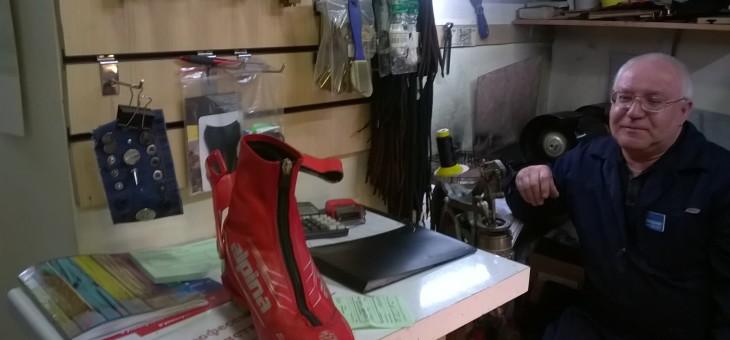 Замена молнии в лыжном ботинке